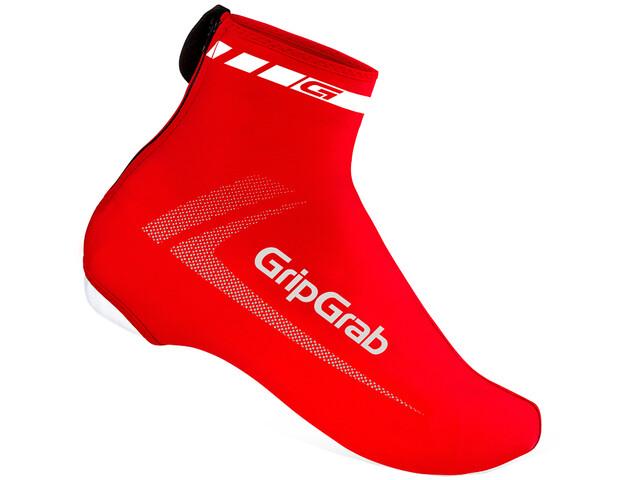 GripGrab RaceAero Surchaussures en lycra légères, red